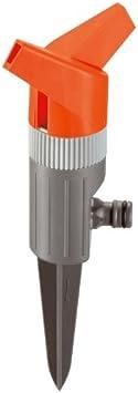 GARDENA Foxtrott Classic 1953-20 - Aspersor circular pulverizador de césped para el riego homogéneo de hasta 130 m², sin charcos, sector de riego 360 °, posición estable, área de aspersión 13m