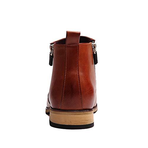 Classic Marron Pour Mode Haut Zipper Casual Confortables Loisirs Chaussures Bottines Hommes De Chenjuan 7xUCwnBqY