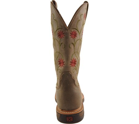 Twisted X Womens Floral Stitched Roughstock Cowgirl Boot Steel Toe - Wlcs002 Bomber/Bomber jsgIcZ