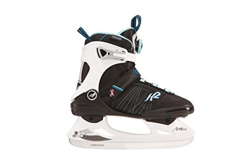 K2 Skate Alexis Ice BOA Skates, Black/White/Blue, Size 7.5 by K2 Skate
