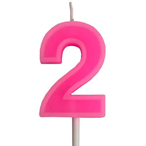 PartyMart Number 2 Candle, Pink Number 2]()