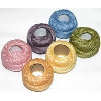 Hardanger Sampler - Presencia Finca Perle Cotton Thread Sampler Pack, Size 5 (10 gram) - for sashiko, embroidery, and quilting -