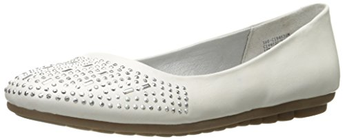 Flat by Bambina Cliffs Mountain White White Ballet Women's AFZaq