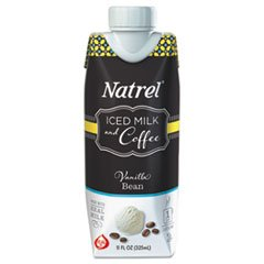 Natrel Indulgent Milk Coffee Drinks, Vanilla Bean Coffee, 11oz Prisma Bottle,12/Cartn
