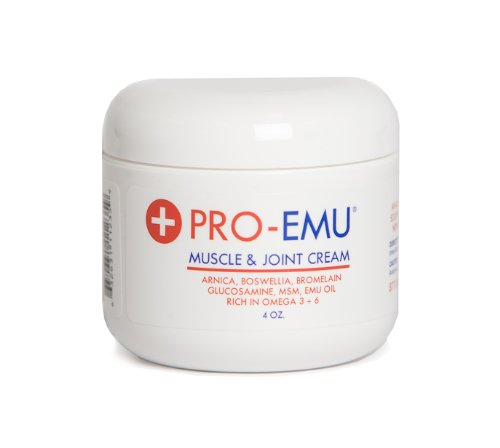 Glucosamine Emu Oil (PRO EMU - MUSCLE & JOINT CREAM - An All Natural, Deep Penetrating, Soothing Cream that is Odorless, Non-Greasy and Easy to Apply)