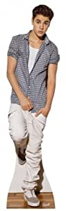 SC580 Justin Bieber Checked Shirt Cardboard Cutout Standup