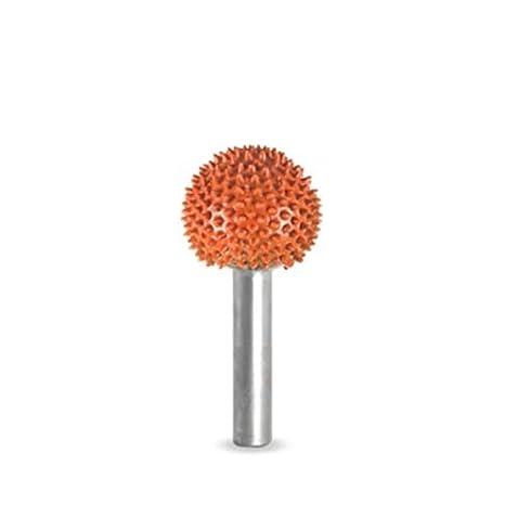 "Saburr Tooth Wood Carving Tool Orange 1//4/"" Shank Cylinder 1//4/"" Ex-Coarse Grit"