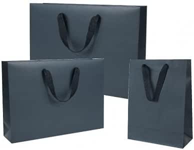 Comptoir de l Emballage – 20 Bolsas Negras manillas cinta negras con un pequeño dura: Amazon.es: Oficina y papelería