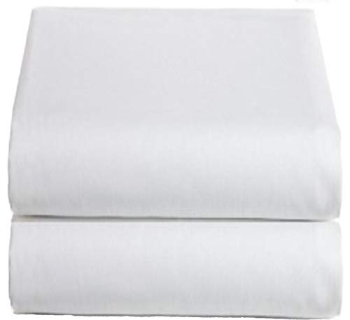 (White King Flat Sheets 2-Pack - 200TC Heavy Weight Quality Cotton, Elegant Double Stitched Tailoring, Reduces Allergies and Respiratory Irritation (2, King))