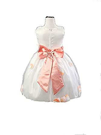 Mixe Color Pageant Flower Girls Princess Dress Kids Party Wedding Bridesmaid Tutu Dress 7 To 8years