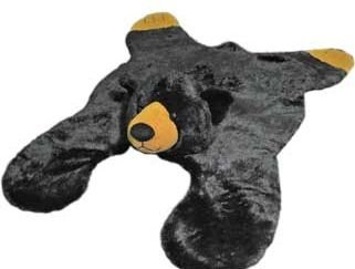 Soft And Cuddly Cute Black Bear Floor Throw Area Rug (Great Kids Rug) 42