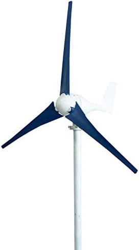 SYN-GUGAI Windturbine 300W / 400W Hybrid Wind-Generator-12V / 24V Hybrid-Controller Wind Turbine Generator 3/5 Blades Wind Turbine-Generator, rot, weiß, blau,300W12V5叶片 控制器