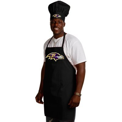 NFL Baltimore Ravens Chef Hat and Apron Set