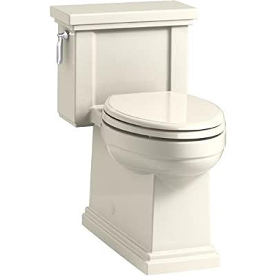 KOHLER Tresham Comfort Height Compact Elongated 1.28 GPF Toilet with AquaPiston Flush Technology and Left-Hand Trip Lever