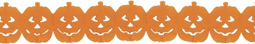Jack-O-Lantern Garland Party Accessory (1 count) (1/Pkg)