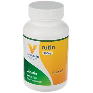 The Vitamin Shoppe Rutin 500MG, Supports Circulation, Supports Vascular Health, Aids in The Absorption of Vitamin C, Once Daily (100 Tablets)
