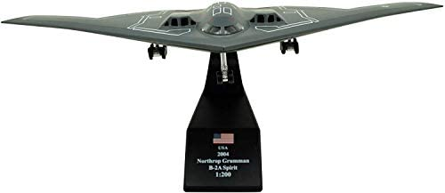 TANG DYNASTY(TM) 1:200 Northrop Grumman B-2 Spirit Stealth Bomber Metal Plane Model, US Air Force 2004, Military Airplane Model,DiecastPlane,for Collecting and Gift