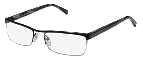 Etro Ve9538 Mens/Womens Designer Half-rim Flexible Hinges Eyeglasses/Eye Glasses (55-17-140, Black / - Eyewear Etro