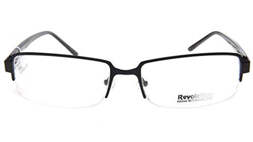 Revolution Mens Eyeglasses - NEW Revolution REV737 BLK BLACK EYEGLASSES GLASSES FRAME Rev 737 61-18-145 B36mm