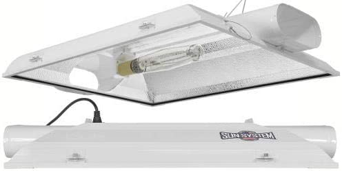 Sun System Grow Lights – Magnum XXXL Low Pro – Air-Cooled Single End Metal Halide HPS Reflector – 8 Air Duct Fittings – For Hydroponic and Greenhouse Plant Use