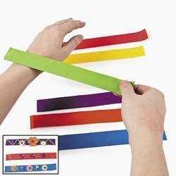 Fun Express Bright Color Snap Bracelets Assortment (50 Piece)