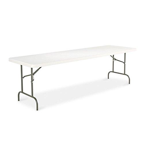 - Alera Resin Rectangular Folding Table, 96w x 30d x 29h, Platinum