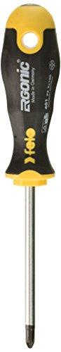 Felo 0715753685 PZ2 PoziDrive Round Ergonomic Screwdriver with Length - Pozidrive Bit 2 Screwdriver