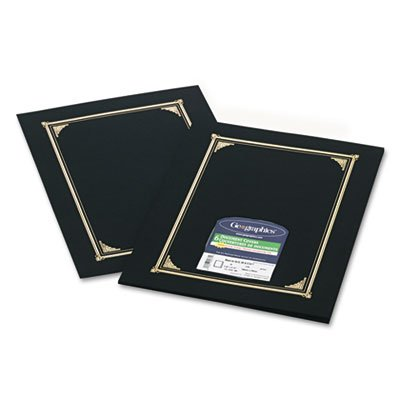Certificate/Document Cover, 12-1/2 x 9-3/4, Black, 6/Pack, Sold as 6 (Diploma Cover 8 X 10)