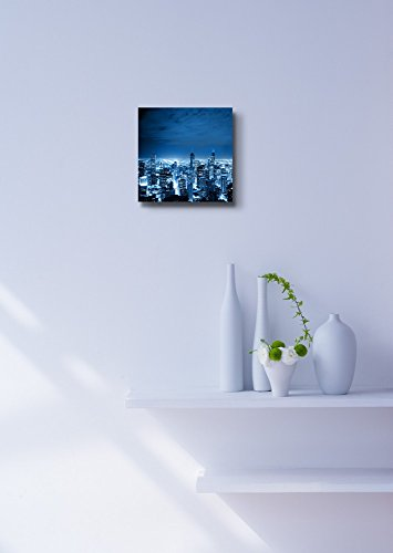 Aerial View of Chicago Cityscape at Night Wall Decor