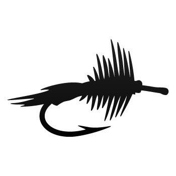 32 & Willys Fly Fishing Lure PREMIUM Decal 5 inch WHITE | Tackle | Lure | Hook | Trout | Bass | car truck van laptop macbook bumper sticker