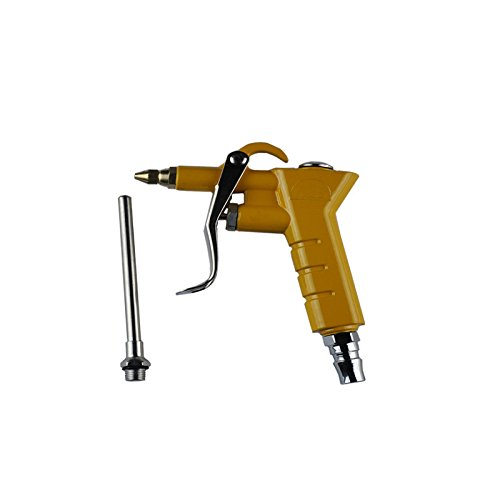 Air Blow Gun - Professional Series with Variable Air Flow Garage Ready Trigger - Heavy Duty 4 Inch Nozzle and 1/4 Industrial Type D
