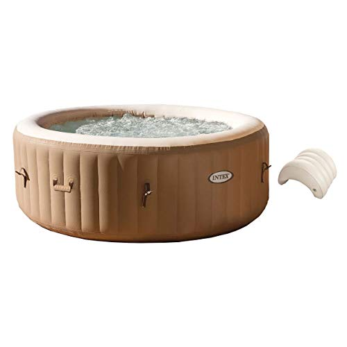 Intex PureSpa 4-Person Inflatable Jet Spa Hot Tub w/Inflatable Headrest Pillow (Spa Jacuzzi Hot Tub)
