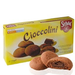 Schar Gluten Free Double Chocolate Cookies Holiday Cioccolini(cocoa Cream Filling) Biscuits 150g 8pack