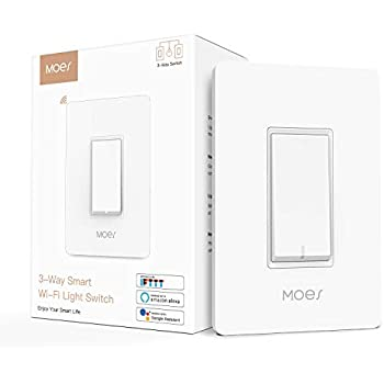 Remote Control Works With Alexa Single-Pole Only by J/&B Energy JACK AND THE BUTLER Smart Light Switch Wi-Fi Control Lighting from Anywhere, Google Assistant and IFTTT No Hub Required Timer Function pack of 2