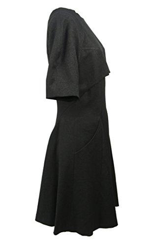 designer tasche Con Chang Marca laterali AL del ABITO al DEMIN Lunghezza GINOCCHIO 42 ginocchio Minyoung poliestere NERO twq0SIz