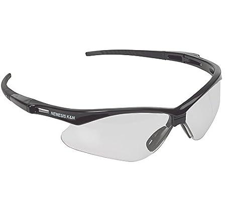 Jackson Safety V30 Nemesis Clear Anti Fog Lens Safety Eyewear with Black Frame