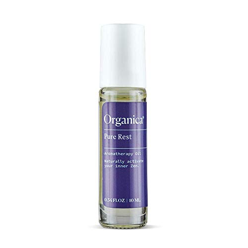 NEW! Organica 10ml Pure Rest Roll-On. Lavender & Sandalwood Aromatherapy Oil Blend - Calming Essential Oils for Sleep & Stress Relief
