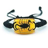Ed Speldy East SL151 Real Bug Bracelet-Scorpion-Rectangle Shape-Amber pack of 4