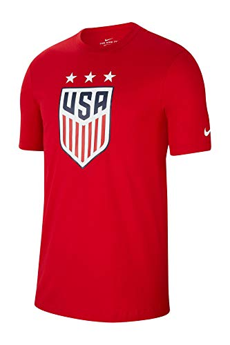 Nike Youth USA Soccer Crest Tee (Large, Red)