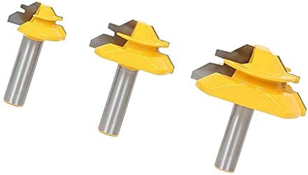 木工用 1/2 インチ 炭化物 フィンガー ジョイント ルータビット 使いやすい 耐久性 3個