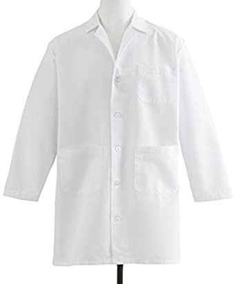 Amazon.com: Medline Healthcare MDT12WHT46E Men&39s Staff Length Lab