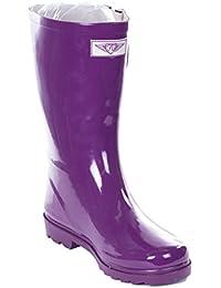 Women Rain Boots, Mid-Calf 11'' Rubber Booties