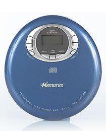 Personal CD w/45sec. anti-shock - Metallic Blue (Memorex Personal Cd Player)
