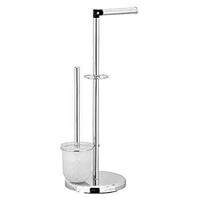 FURINNO Wayar Toilet Paper Holder with Brush Stand