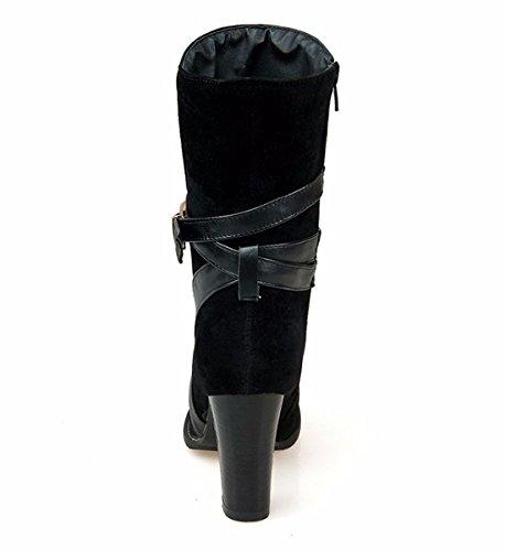 Vintage high heel short boots Black MIgTqWa8