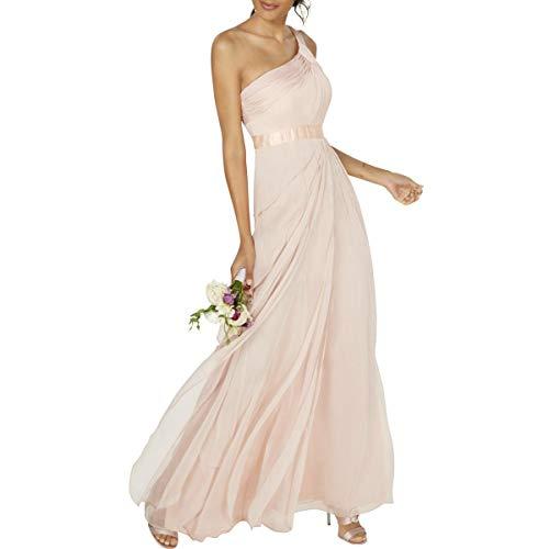 Adrianna Papell Womens Chiffon Tiered Semi-Formal Dress Pink 2