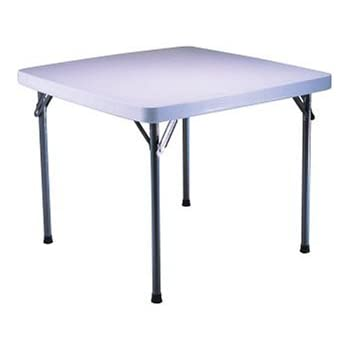 Lifetime 22304 37 Inch Square Folding Table, White Granite