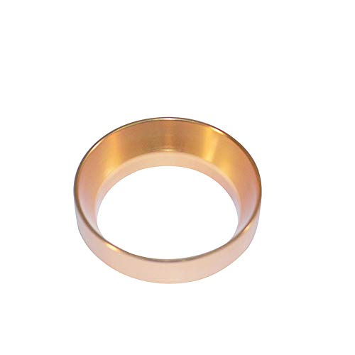 XEOLEO Aluminuml Dosing Ring Intelligent Coffee Powder Ring 58MM for Brewing Bowl Coffee Powder Espresso Barista Tool Black/Gold/Stainless Steel/Rose Gold No Magnetic (Gold)