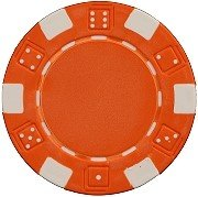 Striped Clay Poker Chips - 3