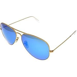 Ray Ban Sunglasses Aviator Gold/ Blue Mirrored Lens Unisex RB3025 112/17 62